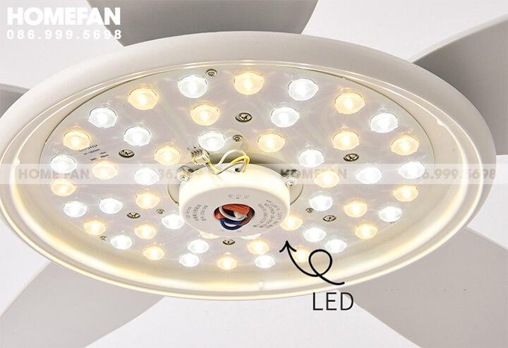 Quạt trần có đèn led trang trí nội thất đẹp chung cư Hà Nội